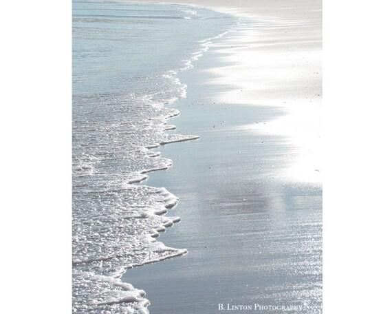 Alaska Landscape Photography - Beach Photograph - Alaska - Water Photo- Beach - Minimalist  - Fine Art Photography Print - Blue Home Decor