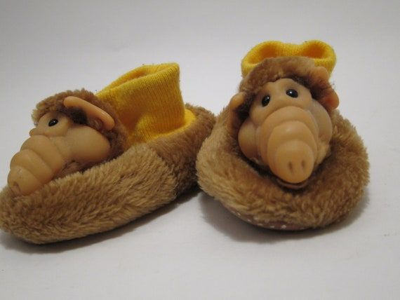 Alf Kid Slippers Brown Alien 80s Tv Memorabilia By Thepantages