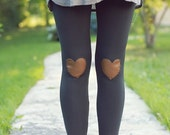 My Leather Heart Charcoal Leggings // size large