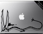 """Vinyl Decal - 10"""" Smaug the Dragon Decal inspired by The Lord of the Rings for Macbook, Laptop, Cars, etc..."""
