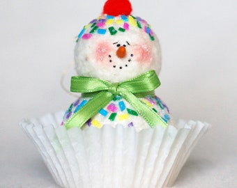 Ice Cream Snowman Ornament
