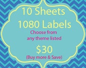 1080 Personalized Candy Kiss Labels Stickers FAVORS - Choose from ANY THEME in my store
