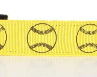 Softball Headband - Yellow Softball Headband - Personalized Headband - Non Slip Headband - Softball Team Headbands - Softball Team Gifts