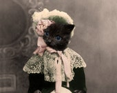 Macy,Cat Print,Anthropomorphic,Whimsical Art,Collage Art,Vintage Cat,Animal Print,Photo Collage,Altered Photo,Funny Animals,Unusual Gift