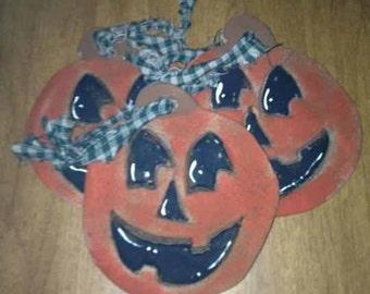 Primitive Pumpkin Ornaments