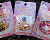 Cell Phone Bling Bling Deco Sticker / Seal - Ice Cream, Macaroon, Donut