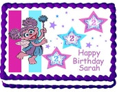 Abby Cadabby 1/4 sheet cake topper - your choice of design