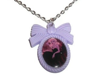 Ursula Necklace, Purple Cameo Necklace, Alternative Disney