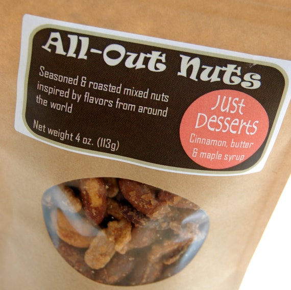 JUST DESSERTS all natural roasted nuts (4 oz. pouch)