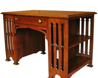 Art Deco Style Oak desk