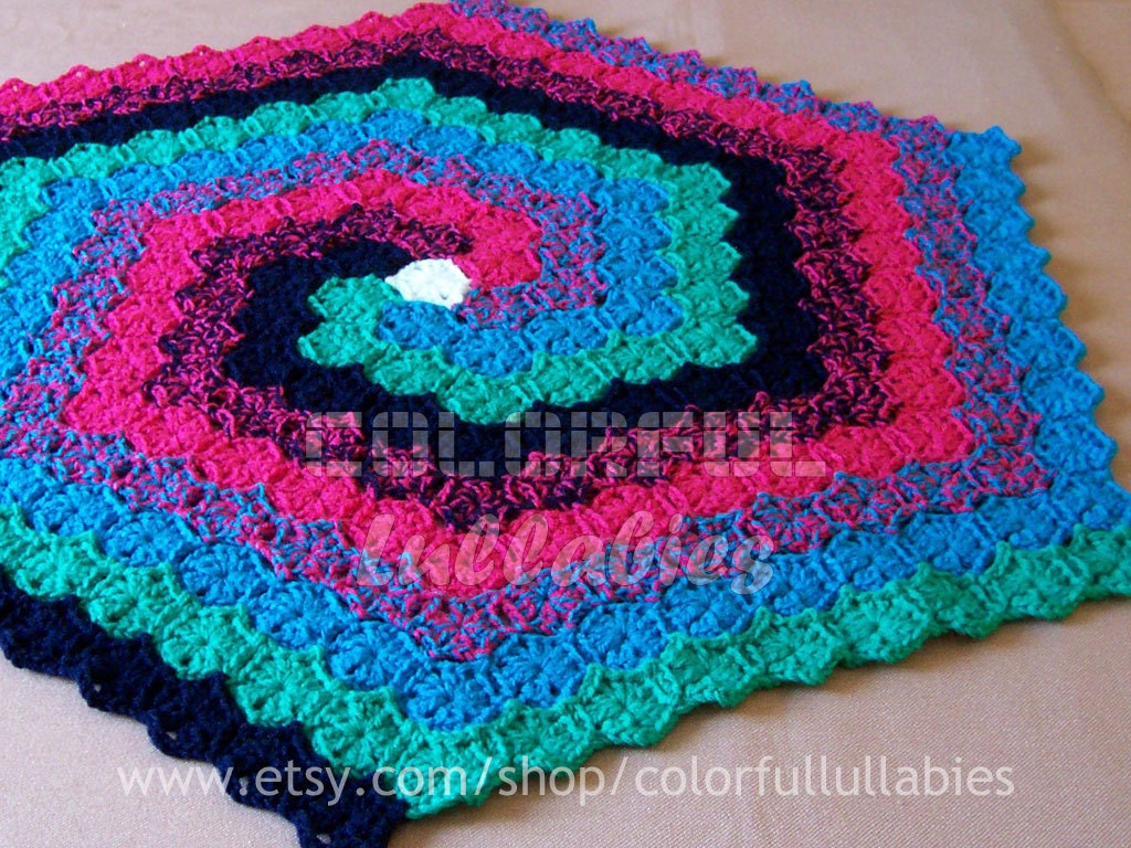 Crochet hexagon spiral rug pattern english and spanish - Alfombras de trapillo originales ...