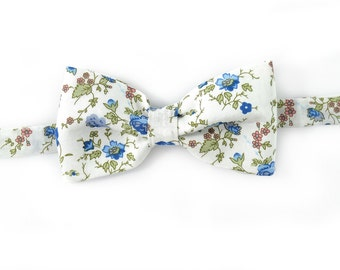 Men blue wedding flowers bowtie - Baby, toddler boys tie Wedding Kids Bow Tie