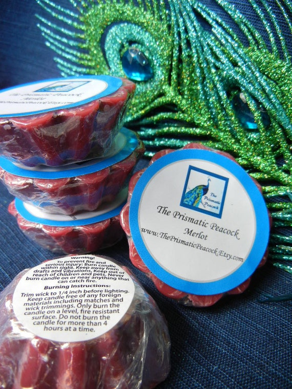 merlot wine scented soy wax melting tarts red
