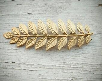 SALE laurel - golden leaf hair pin