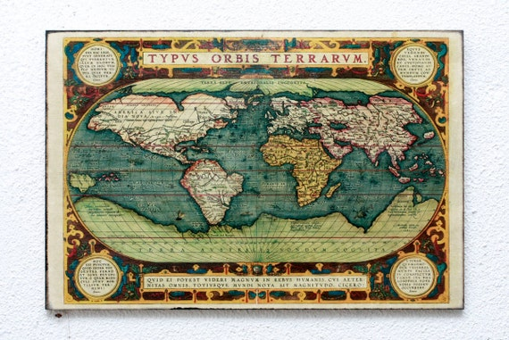 Retro wood wall art 8x12 20x30 cm typus orbis terrarum like this item gumiabroncs Images