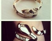 Vintage Snake Cuff Bracelet/Costume Jewelry