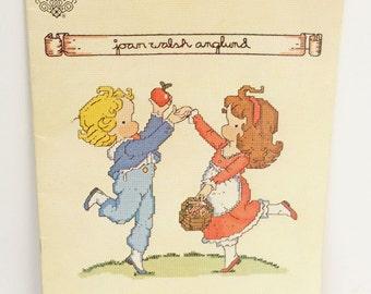 Sweet Joan Walsh Anglund Calendar Cross Stitch Pattern Book, 'Adam and Emily'