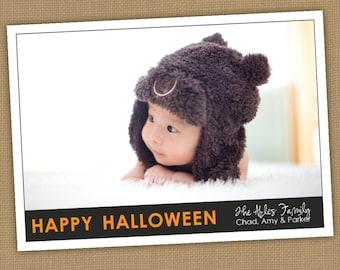 Halloween Photo Card. Happy Halloween