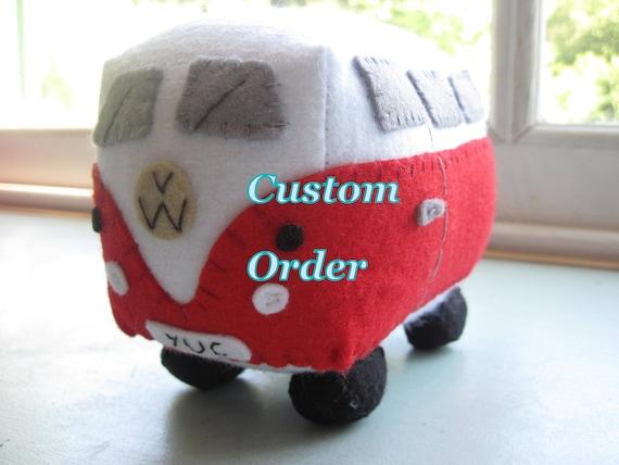 VW Campervan Gift Custom Order for LAWRENCE WALKER - Campervans & Teddies