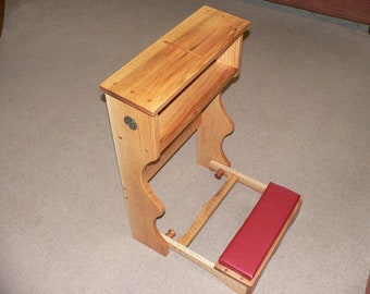 Items Similar To Prie Dieu Or Prayer Desk Style Kneeler On
