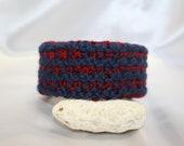 Red n Blue Knit Bracelet