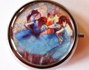 Ballerina, Pill Box, Pill Case, Degas, Pill Container, Pink, Mint Container, Candy Container, French Painting (1787)