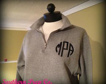 Monogrammed Ladies XXL XXXL Quarter Zip Pullover