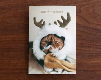 """Christmas card """"Reindeer Meme"""""""