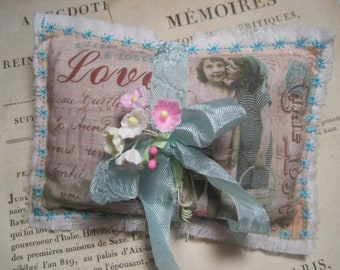 Shabby French beach friends lavender gift sachet mothers day girlfriends sisters