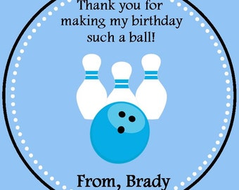 Bowling Party Favor Tag