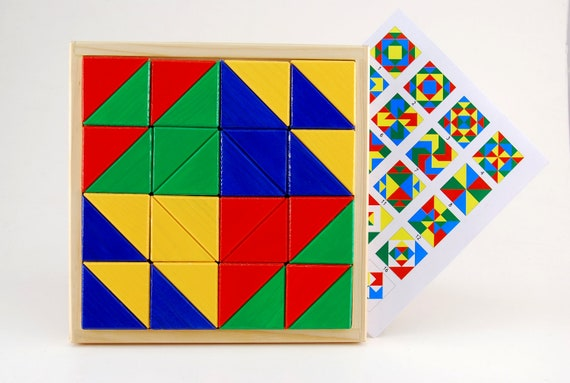 Developing geometrical puzzle - Big triangle show (for age 3 - 10 )