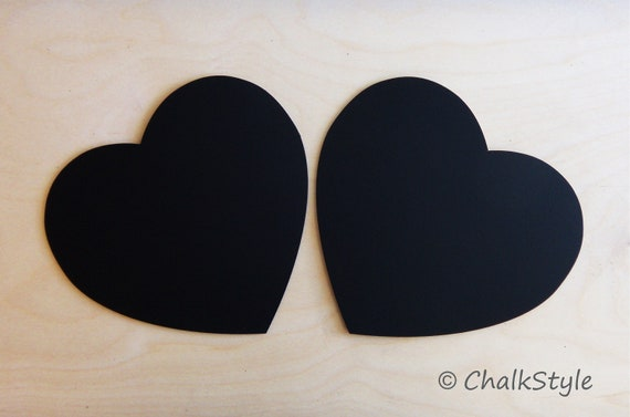 2 CHALKBOARD Large HEARTS  Valentines Day or for Rustic Wedding Decor Photo Booth Prop, Engagement Pictures Props Save the Date Chalk Board