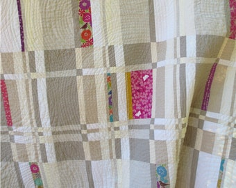 Not so Twin Strips Quilt