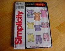 UNCUT Simplicity 5644 Pattern, Infant Baby Dress,Top, Pants, Size XXS - LG