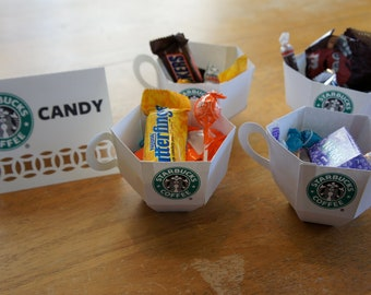 Starbucks Candy/Dessert Table Paper Cups