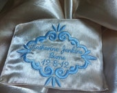 Wedding dress label name of groom and bride sew it in the inside of the wedding dress