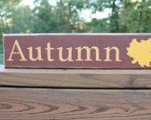 Wooden Autumn wall sign