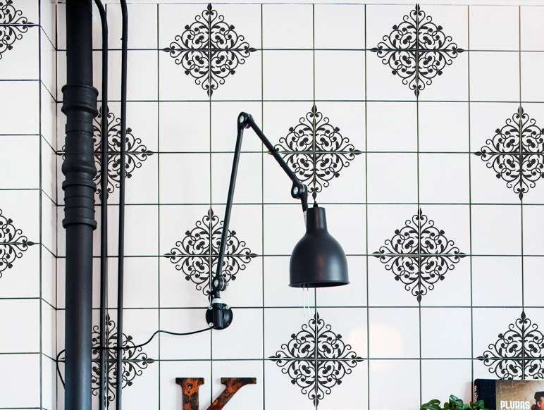 Tiles Decal For 4 Tiles Moroccan Decor Kitchen Tiles