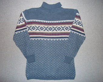 Cute Vintage Nordic Hipster Ski Turtleneck Sweater Skiing Tacky Gaudy Ugly Christmas Party X-Mas Holiday Winter Warm M Medium
