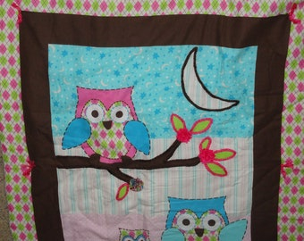 Popular Items For Pink Owl Blanket On Etsy