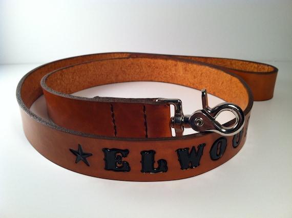 Custom Handmade Personalized 4' Leather Dog Leash or Lead