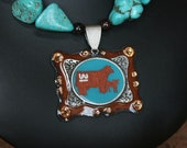 Custom Made Pendant ONLY Double Buckle Design or Cattle Cutout  Your Breed-Your Brand