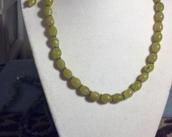 SALE!!!  Olive New Jade Necklace