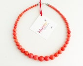 Coral Necklace. Pink Necklace. Salmon Necklace. Peach Necklace. Red Necklace. Orange Necklace. Graduated. Pink Coral. Kluster.