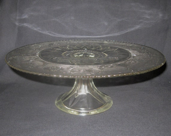 "Duncan & Miller no. 41 Sandwich 13"" Cake Stand in Excellent Condition"
