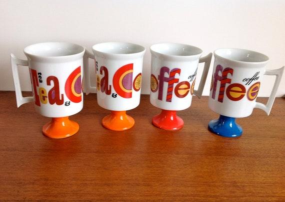 Vintage Royal Crown Arnart Tea and Coffee Mugs set of 4