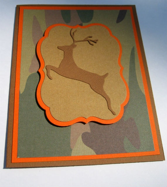 Hunter Birthday Card With Camo And Deer