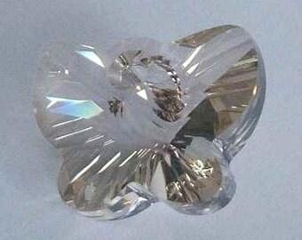 1 SWAROVSKI 6754 Butterfly Crystal Pendant 18mm SILVER SHADE