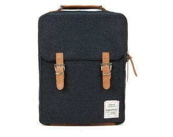 Cotton Square Backpack (Black)