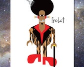 Frobot Funky Robot Greeting Card